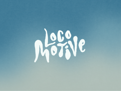 Locomotive Monday hand drawn practice typography dribbble illustration design graphic graphic design