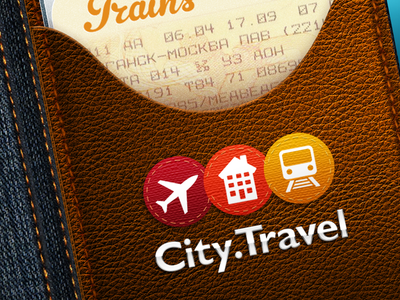 City.Travel splash screen skeuomorphism journey travel app ios