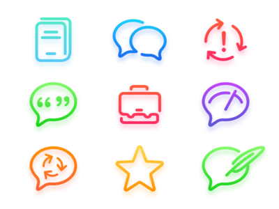MyEnglish 3 Library Icons vector shape app learning language school apple iphone set icon android ios gradient color