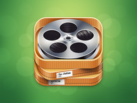 Alternative version of the Filmoteka app icon
