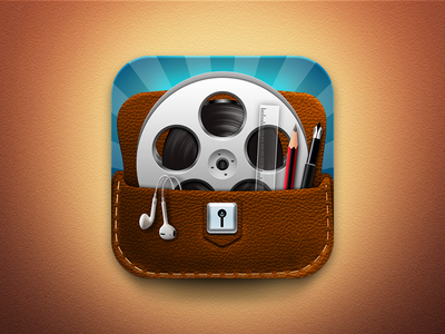 Filmoteka: Education app icon movie android ios icon film education