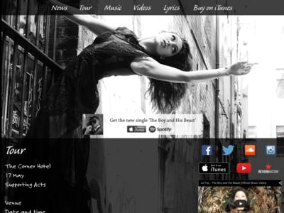 Le Fay Tour page music website
