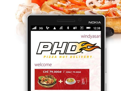 PHD Pizza Hut Delivery app for Windows Phone