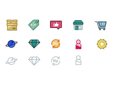 Icon Fill Outline visual design icon fill outline icon outline icon fill iconography icon design icon set icon