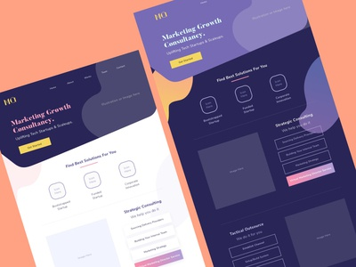 2 theme colors of a landing page visual design landing page concept figma ux design user interface interface ui design light theme dark theme home page landing page
