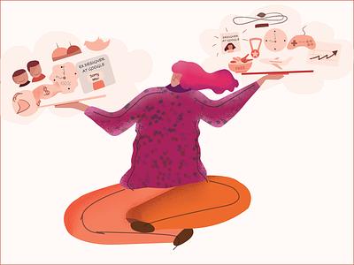 16th Illustration - Created for my blog on uxdesign.cc blog vector artworks vector art vector woman illustration affinity affinity designer visual visual design art digital art digital illustration flat illustration illustration