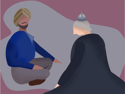 Inspired by Victoria and Abdul Movie visual drawing digital art flat illustration vector made by affinity affinity designer illustration