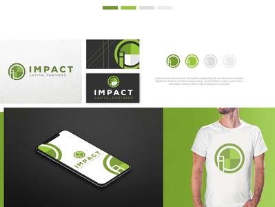 Logo for Impact capital partners brand branding design brand identity 99 designs t-shirt design ratio green properties capital impact corporate identity business corporate icon vector modern design illustration branding logo