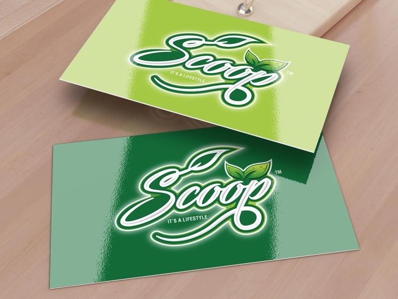 Scoop brand logo concept 1