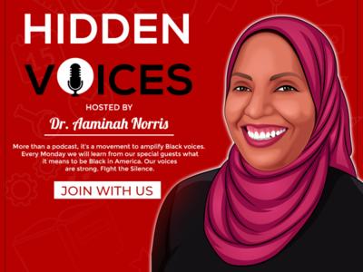 Hidden voice podcas illustrations photoshop poddcast poster design illustration branding