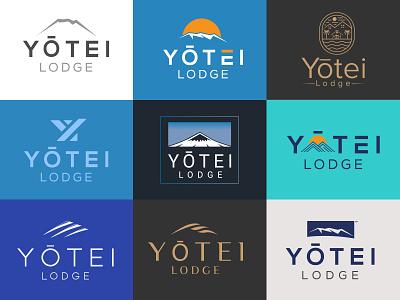 Holiday house brand logo designminimalist logo modern logo logodesign white mountain hill holiday house bishwajit biswas yōtei lodge modern mount branding logo graphic design