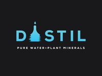 Distil pure water logo project