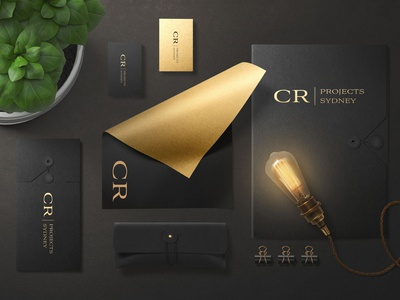 CR Projects  very simple Luxury logo