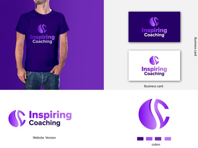 Inspiring Coaching logo color v1 i logo app sketch drawing character concept logoinspiration clean cricket abstract background corporate identity business corporate vector modern icon design illustration branding logo