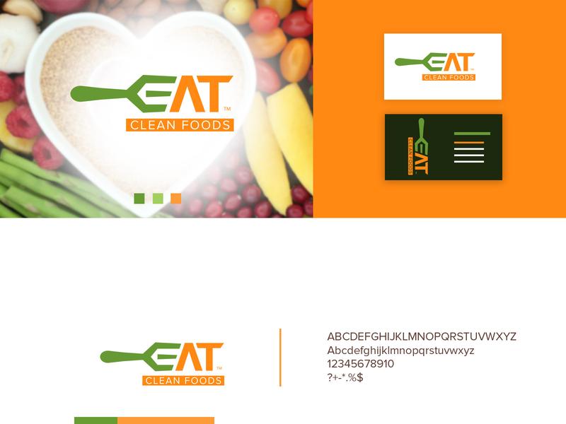 Food logo vector modern icon design illustration branding food and drink clean eat logo graphic design green free food