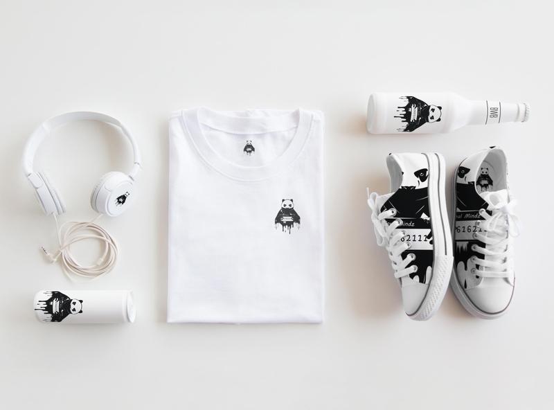 new t-shirt brand logo. pandas panda logotype typography drop creative template black panda logo t-shirts corporate identity business corporate vector modern icon design illustration branding logo