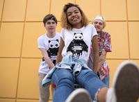panda t-shirt boys and girls mock up