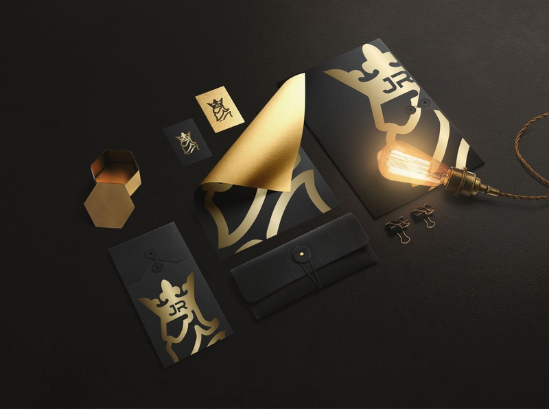 JR king Luxury logo luxury brand luxurious luxury logo black logotype luxury king gold logo design luxary corporate identity business corporate vector modern icon design illustration branding logo