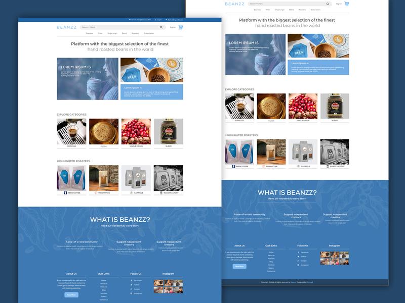 coffee Beanz website design web design logo illustration corporate identity vector modern design corporate brand coffee website design webdesign website branding