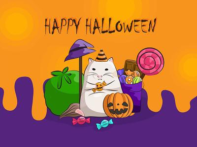 HAPPY HALLOWEEN! illustration hamster happy halloween halloween
