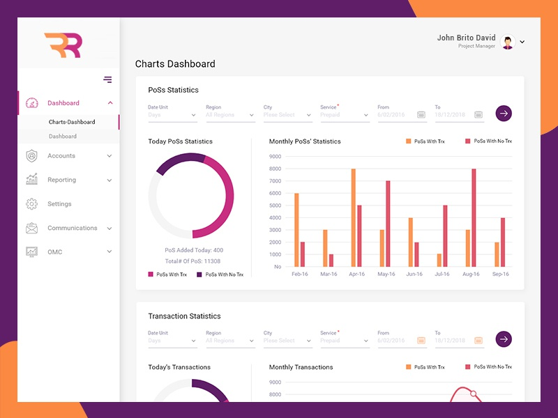 UI Design banking single page colorful illustration mobile design website uiux