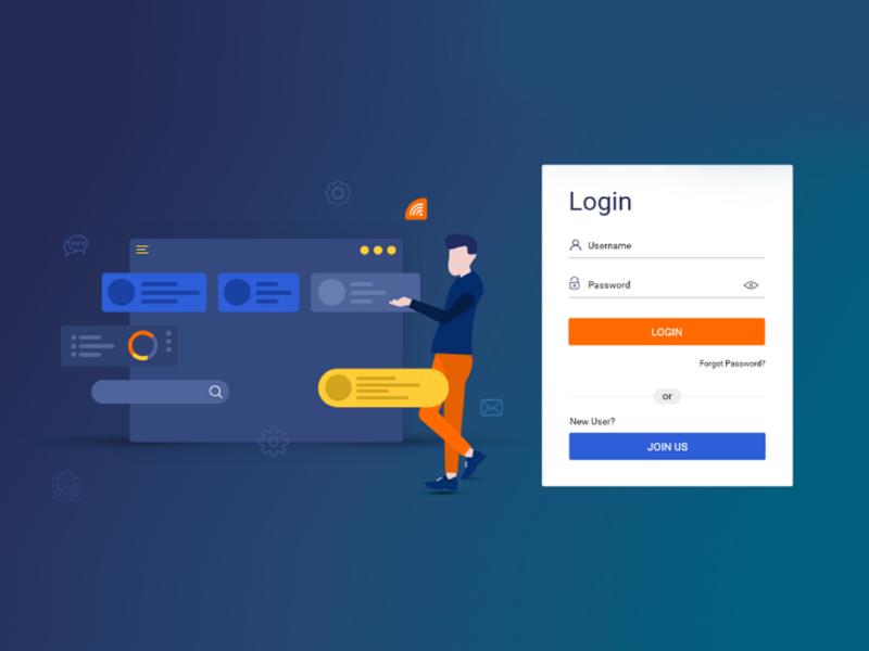 Dashboard Login page