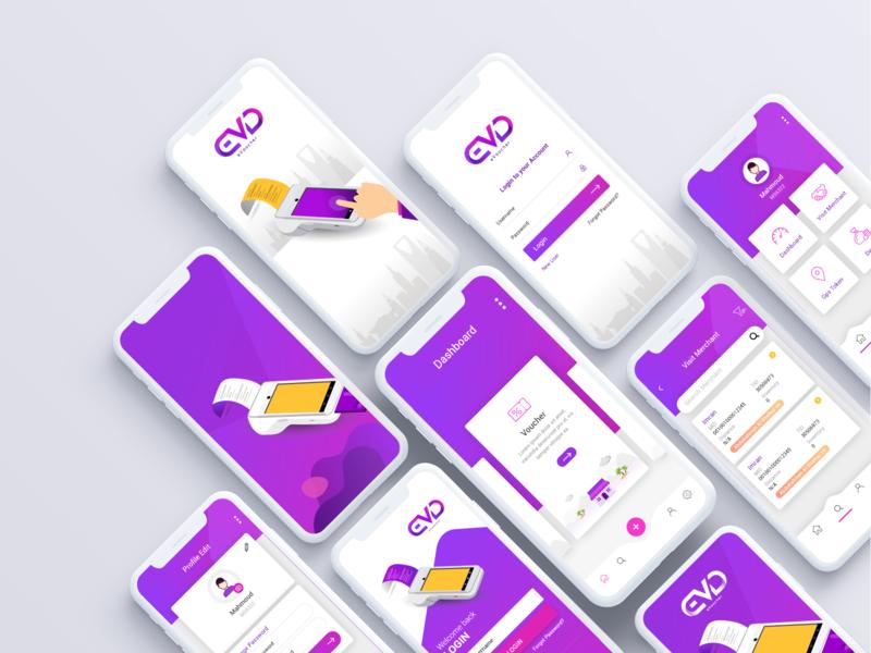 Mobile Application Design app vector uiux mobile illustration design colorful