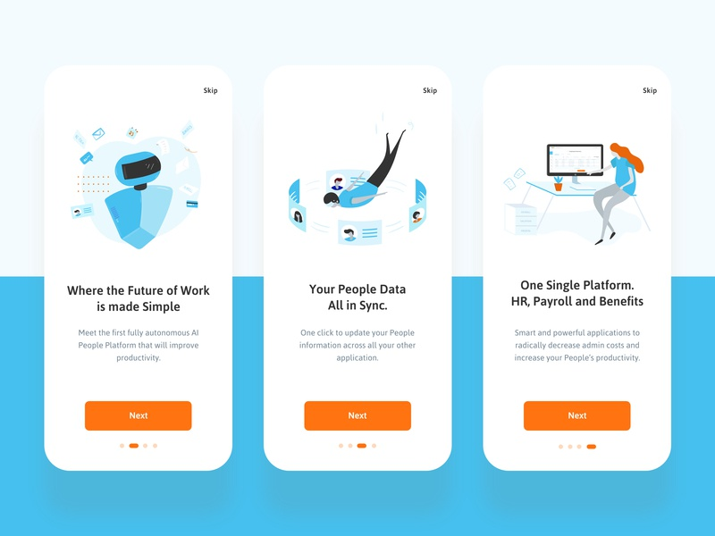 Hr Platform App by Gilbert BG on Dribbble