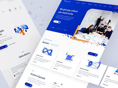 Objectivity - Company Website company webdesign website design sketch ux ui
