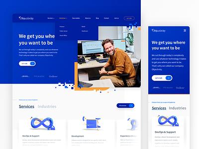 Objectivity - Company Website webdesign website sketch mobile ui ux design company