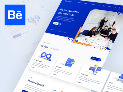 Objecitvity — Company Website behance case study illustration branding 3d website company webdesign design ui ux