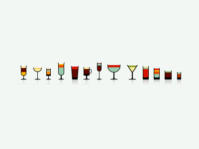 Lush Mini Glasses app drink beer food icons iphone