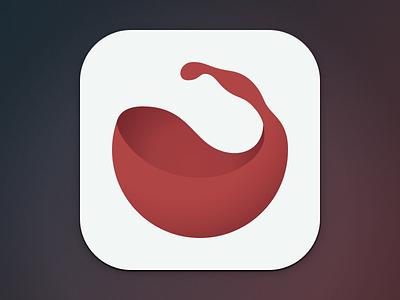 Lush App Icon iphone app icon drink ios ui minimal