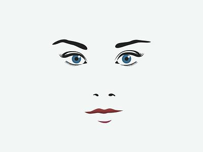 Lush Promo Woman woman girl face eye illustration minimal