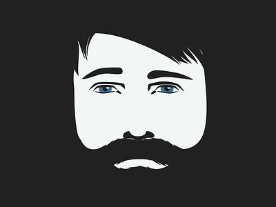 Lush Promo Man minimal face man beard
