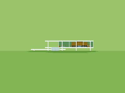 Pixel Architecture: Farnsworth House architecture pixel