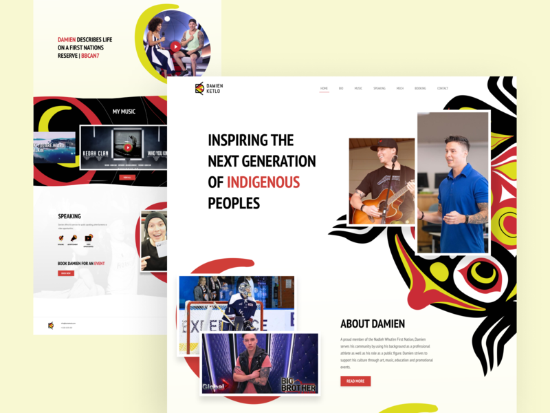 Damien Ketlo - Website weblayout new website user interface inspiration uxui ui designer ui design ui design web webdesign website concept website design website web design