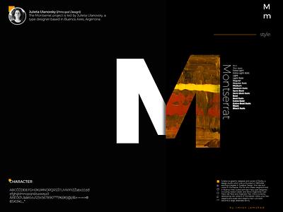 Montserrat Font Info Presentation ui designer ui design minimal type lettering typography icon flat design ui branding