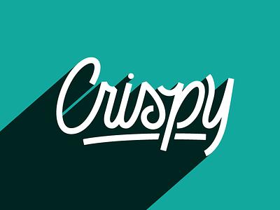Crispy retro script slang vector extra crispy