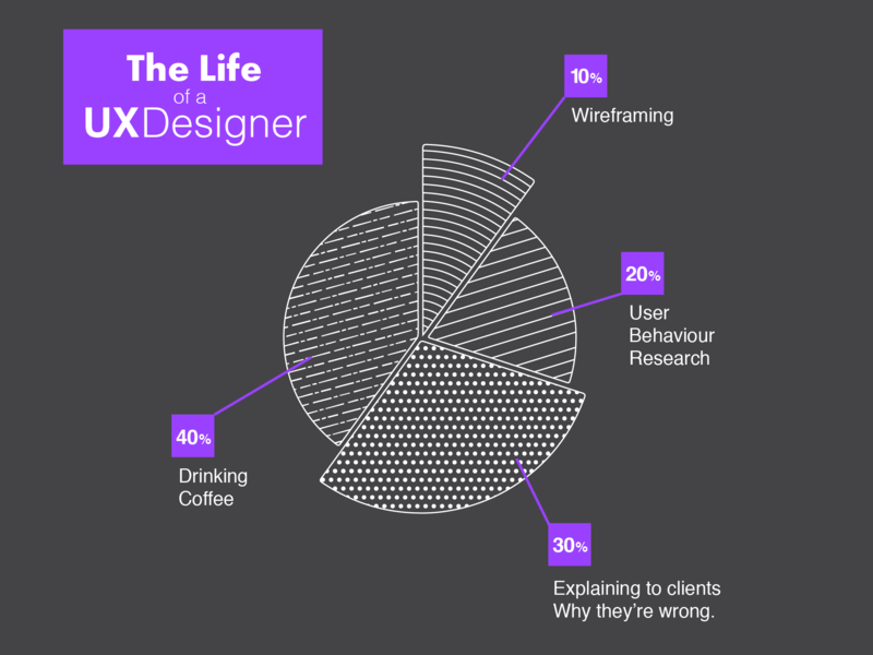 The Life of a UX designer ui design infographic ux pie chart