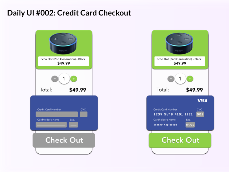 Credit Card Checkout dailyui002 dailyui
