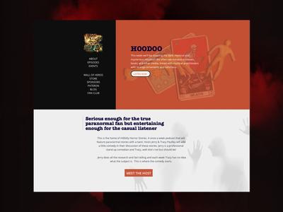 Hillybilly Horror Stories Podcast paranormal spooky mocktober website web design dark landing web podcast halloween