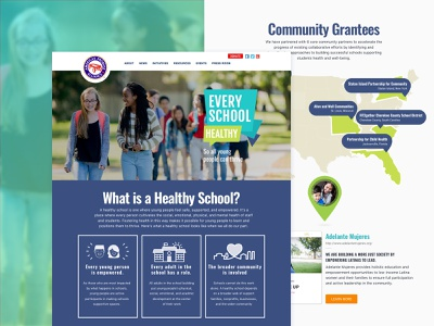 Landing Page - Every School Healthy Campaign map ui illustration icon mentalhealth landing page web school