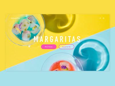 Margarita Quick Fire Dribble homepage cocktails landing page website ui web  design margarita