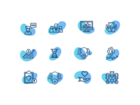 Wealth Management UI Icon Set