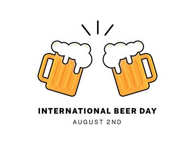 International Beer Day pilsner beer adobe illustrator flat illustration flat design illustration flat icon