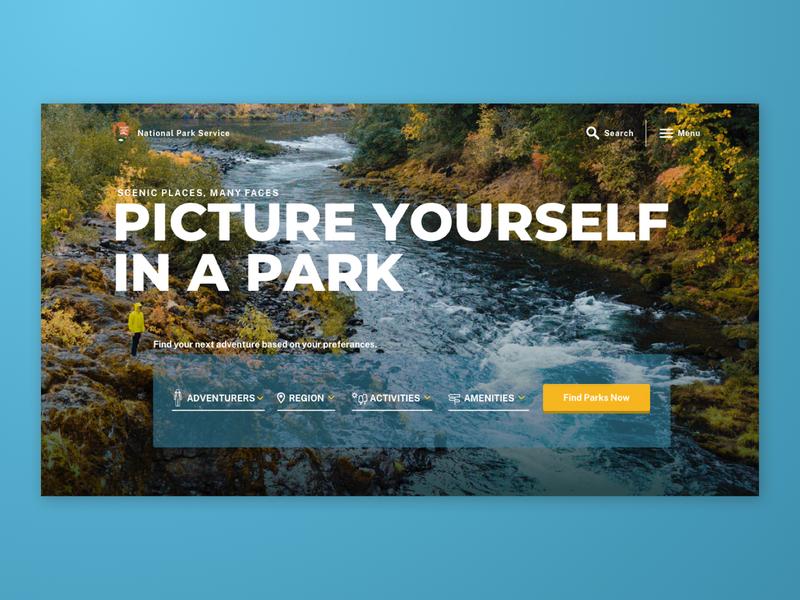 National Park Service  |  Quickfire | Web Design web design ui design national parks website ui landing page