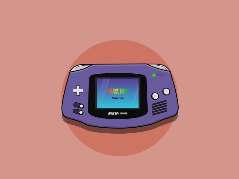 Gameboy Advance gaming gameboy advance gameboy nintendo illustration design
