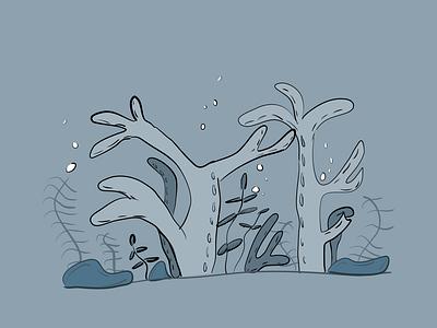 Vectober 20 - Coral illustration design coral reef coral inktober vectober inktober2020