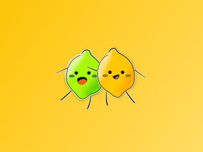 Vectober 25 - Buddy buddy lemon lime inktober inktober2020 vectober illustration design